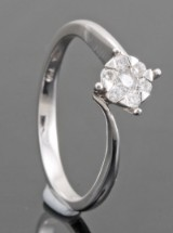 18kt. diamond ring approx. 0.18ct