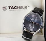 TAG Heuer 'Carrera Calibre 1887'. Herrechronograf i stål med sølvgrå skive - boks + cert. 2017