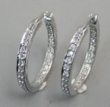 Par diamantørestikkere. Ca.0.56 ct (2)