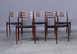 Niels O. Møller. Rosewood dining chairs, model 78 (5)