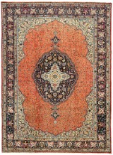 A hand-knotted Persian carpet, Tabriz, 340 x 252 cm
