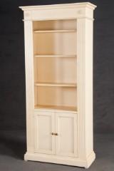 Bücherregal im Empirestil, weiß gefasst