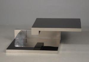 couchtisch mit schwarzer drehbarer glasplatte. Black Bedroom Furniture Sets. Home Design Ideas