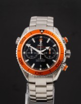 Omega Seamaster Planet Ocean. Oversize men's watch, steel, with Co-Axial movement