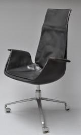 Preben Fabricius & Jørgen Kastholm for Kill Int. Office chair/armchair, 'Tulip chair', model FK 6725
