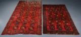Semi-antikke afghanske tæpper, 308 x 166 og 245 x 147 cm (2)