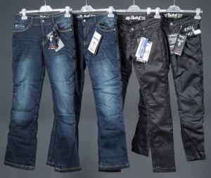 Bull-It MC-jeans til damer, str. 36 / 38. (4) - Dk, Odense, Kratholmvej - Bull-It MC-jeans til damer. 2 par Vintage SR6, blue, regular legs, str. 38, 1 par oil skin 17, long leg str. 38, 1 par oil skin SR6, regular leg, str. 36. Der medfølger 1 sæt rensemiddel. Nye og ubrugte. (4)Denne auktion er en  - Dk, Odense, Kratholmvej