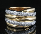 Diamond ring, 18kt. gold, approx. 0.69ct