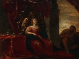 Ubekendt kunstner, 1600-tallet. Portræt af en dronning, olie på kobber