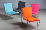 Verner Panton for Montana. Sæt på fire stole model Bachelor (4).