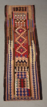 Harsin Kilim tæppe, 305 x 90 cm.