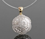 Diamond pendant, 14kt. gold, approx. 1.08ct.