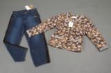 C'arla Du Nord Quiltjakke og jeans  str 40 (2)