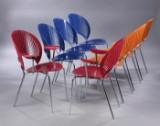 Nanna Ditzel. Sæt på otte 'Trinidad' stole, model 3297 og 3298. (8)