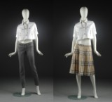 Burberry, jakke, nederdel samt par bukser, str. 38/40 (3)