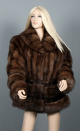 Alex Petersen. Sable fur with clipped chinchilla, size 36-40
