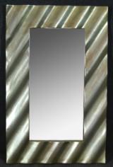 Spegel silverfärgad ram