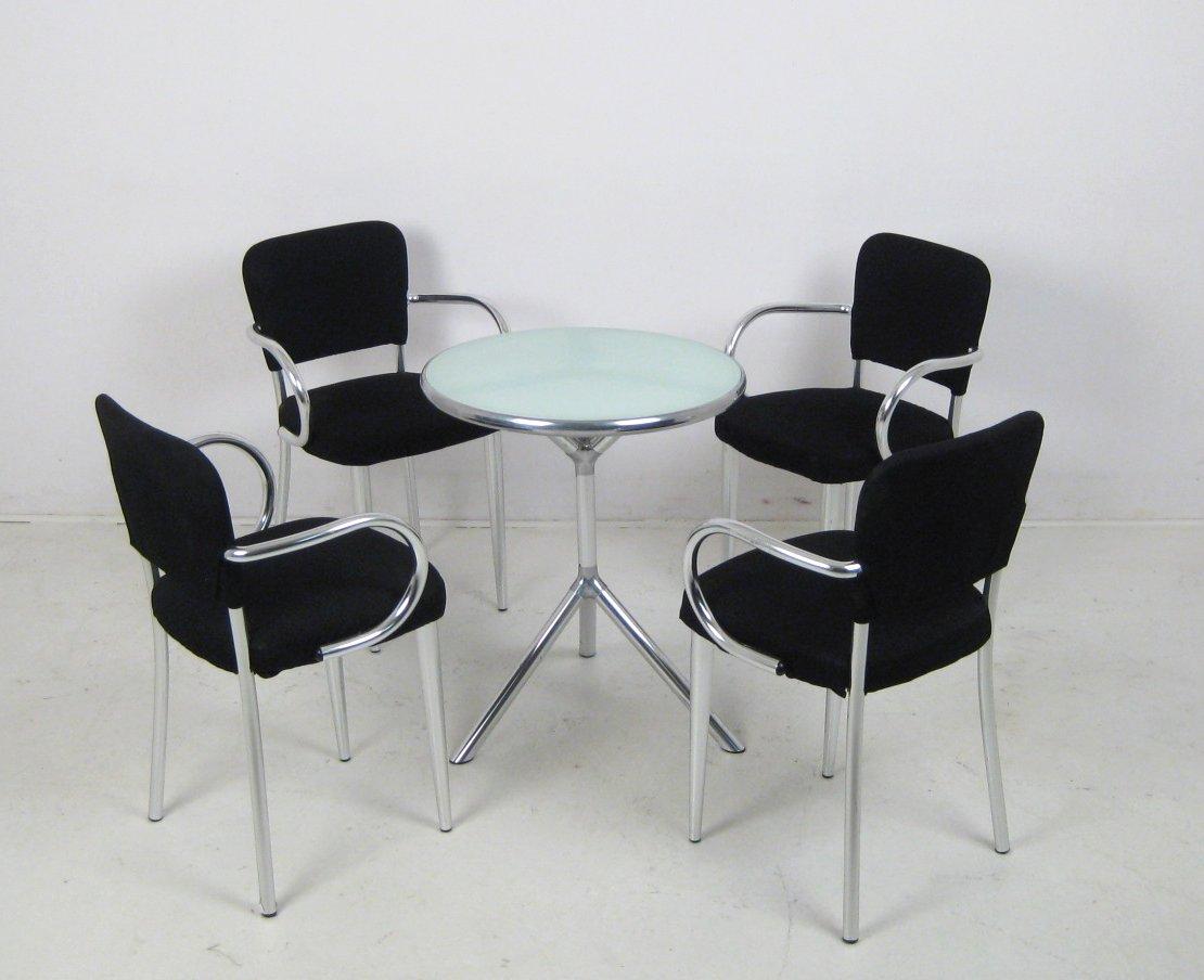 Set stühle ycami bacco sedia und tisch design von studio f a