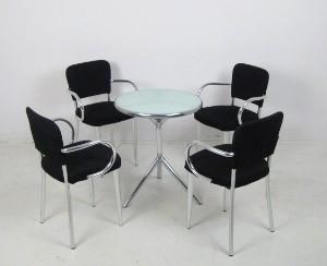 Set stühle ycami bacco sedia und tisch design von studio f.a.