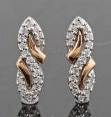 18kt. diamond earrings approx. 0.28ct