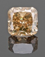 1 loose cornered square mod. fancy brown-yellow diamond 3.37ct With GIA cert
