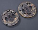 Two Japanese tsubas, mid-Edo, probably 1750-1800 (2)