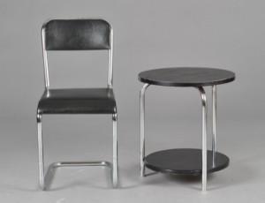 Slutpris för Stol og bord, Bauhaus-stil (2)
