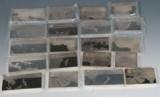 Samling sølvbarrer, udført med lande motiver. (20)