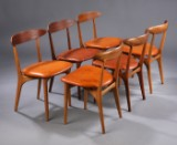 "Kurt Østervig. ""Skagen"", set of six chairs, model 27 (6)"