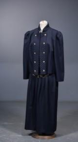 Avantgarde, vintagedragt, jakke og nederdel str 46