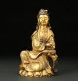 Guanyin, gilt bronze. China. 19th century