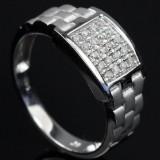 Men's brilliant-cut diamond ring