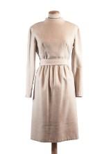 Klänning i beige ull. 1900-talets första hälft