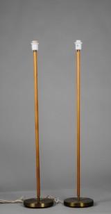 Falkenberg, golvlampa, läderstomme, 2 st