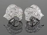Diamond earrings in 18kt approx. 2.50ct (2)