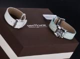Saint Honoré, damearmbåndsur i diamantbesat stål, model SH 11