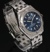 Breitling 'Wings Automatic' men's watch, steel, blue dial with date