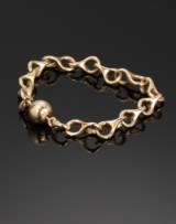 Ole Lynggaard. Bracelet, 14 kt. gold with ball clasp