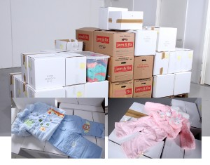 Nanette m.fl. Stort parti børnetøj (ca. 1000) - Dk, Vejle, Dandyvej - Nanette m.fl. Stort parti børnetøj mm. Hovedsaligt tøj til drenge og piger med alderen 3-9 måneder. Heraf mange forskellige typer sæt til hver sæson. Enkelt kasse med voksentøj. Ca. 50 store og små kasser med i alt omkring 10 - Dk, Vejle, Dandyvej