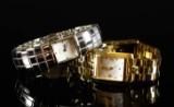 Alfex damearmbåndsur af stål & double.