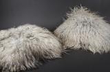 To puder af islandsk fåreskind, grå-melange (2)