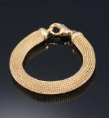 Italian bracelet in 18 kt. round-woven gold
