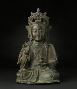 A Chinese Buddha, bronze, Ming 1368-1644