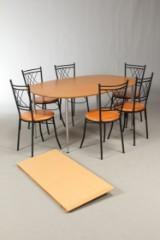 Brd. Andersen spisebord model Zeta samt seks stole (8)