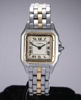 Cartier 'Panthere Lady'. Dameur i 18 kt. guld og stål, ca. 1990'erne