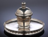 Georg Jensen silver inkwell, model no. 150, produced in 1919