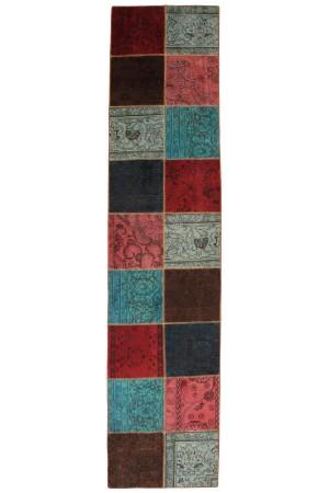 Persisk Patchwork løber, 375 x 83 cm. - Dk, Roskilde, Store Hedevej - Persisk Patchwork løber, fremstillet af persiske vintage fragmenter. 375 x 83 cm. - Dk, Roskilde, Store Hedevej