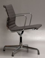 Charles Eames. Armchair, model EA-108, from 2015, anthracite hopsack