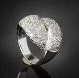 Brilliant-cut diamond ring approx. 1.40 ct.