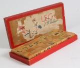 LEGO klodser af træ, med kasse 1930/40'erne